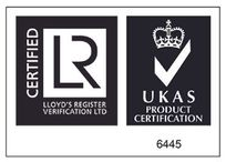 Logo Certified Lloyd's Register Verification Ltd, Ukas Product Certification 6445